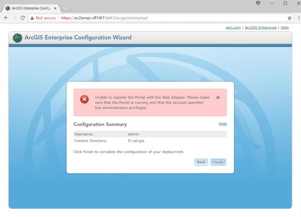 portal registration error