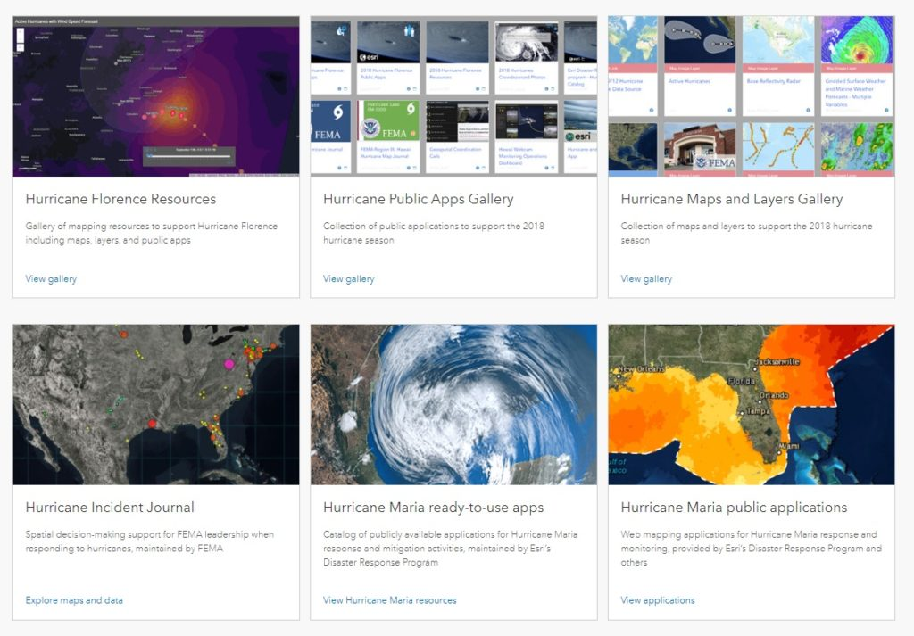 esri hurricane gallery